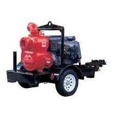 "TRASH 6"" PUMP DIESEL W/TRAILER"